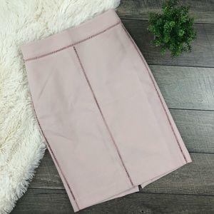 Ann Taylor Pale Pink Pencil Skirt